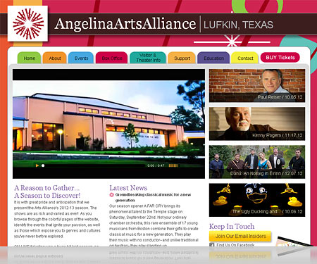Angelina Arts Website Portfolio